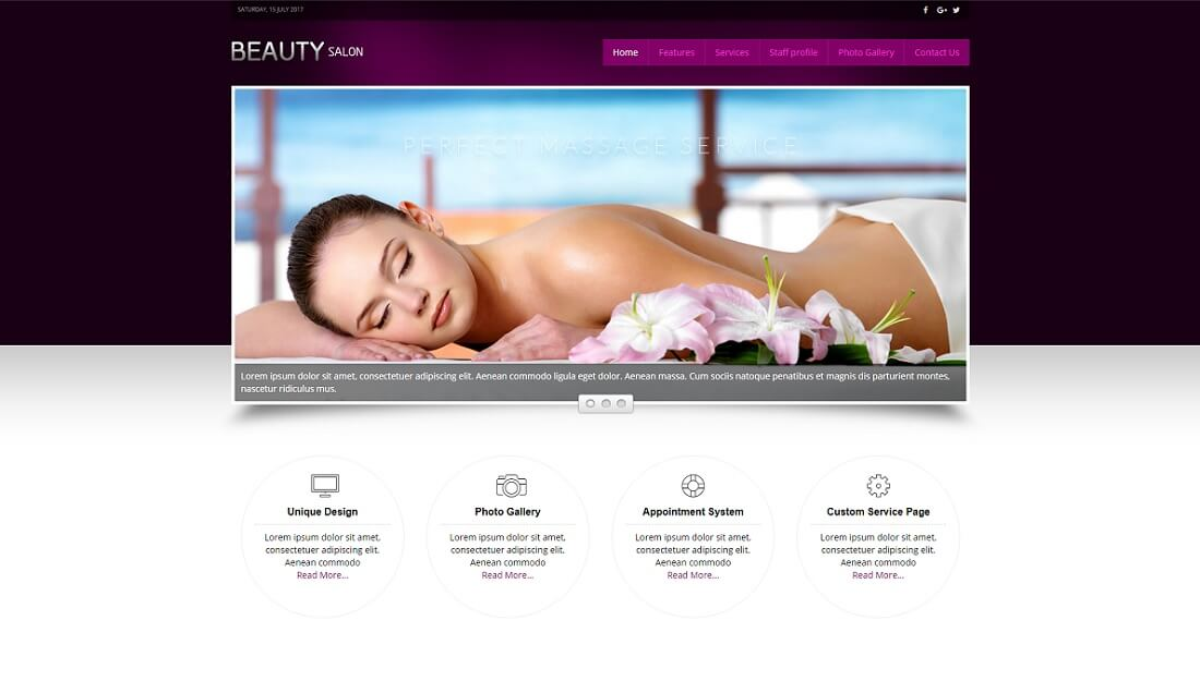 beauty salon joomla business template