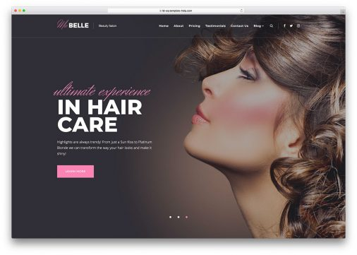 Beauty Services Wordpress Themes