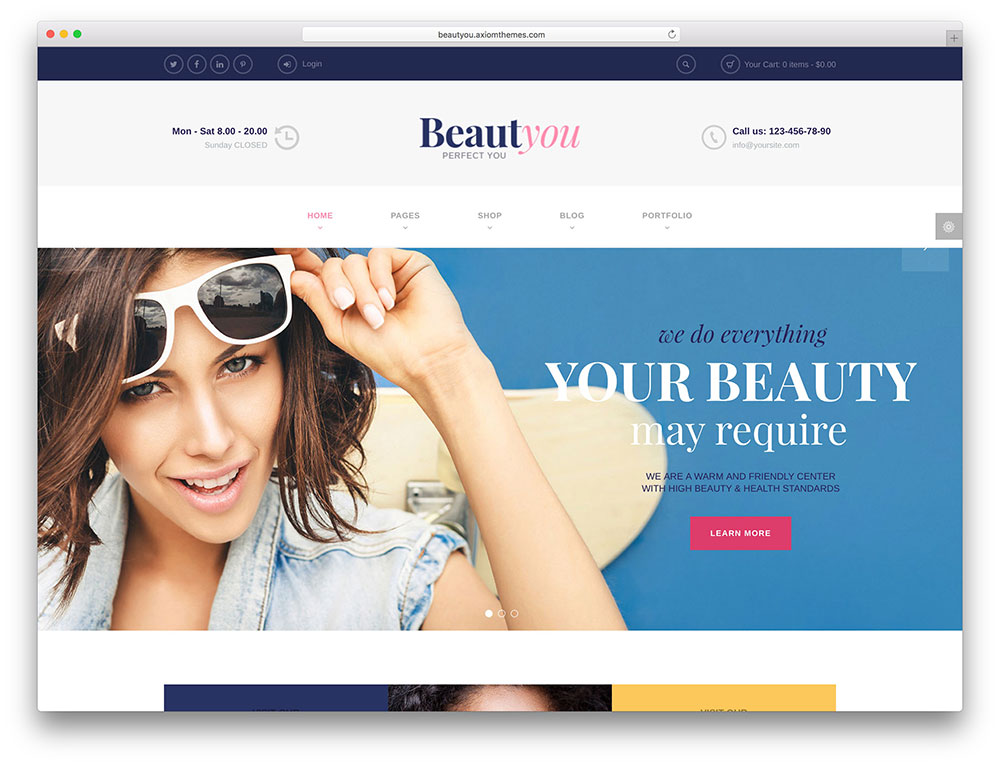 beauty classic salon template