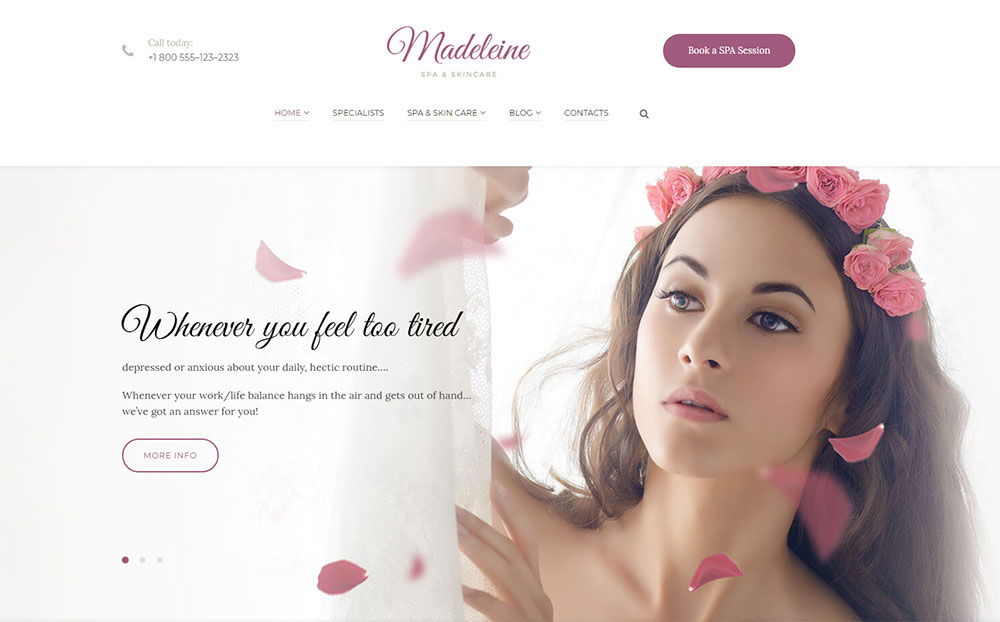 Spa Health - Skincare WordPress Theme