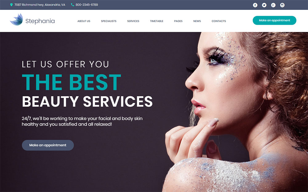 Beauty Salon WP Theme