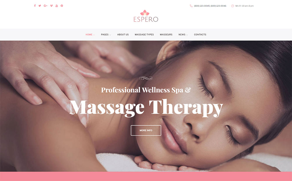 Massage WP Theme