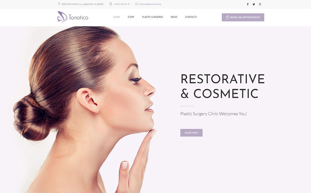 Tonotico - Plastic Surgery Clinic Responsive WordPress Theme