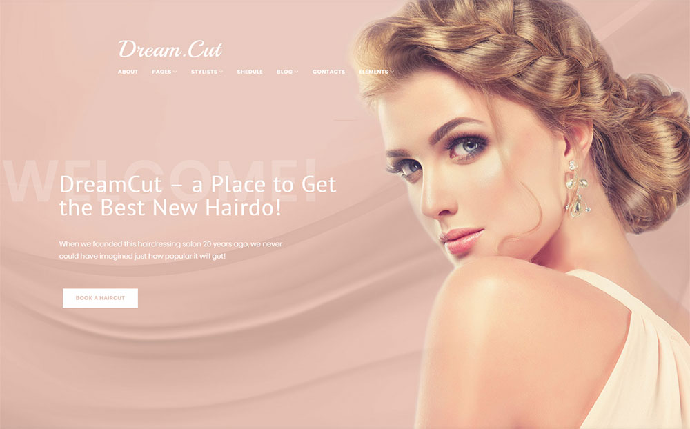 Salon WordPress Template