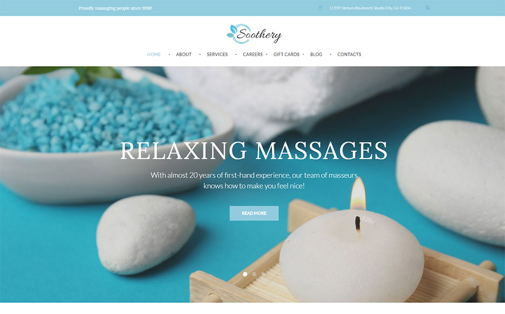 Massage Salon WordPress Theme
