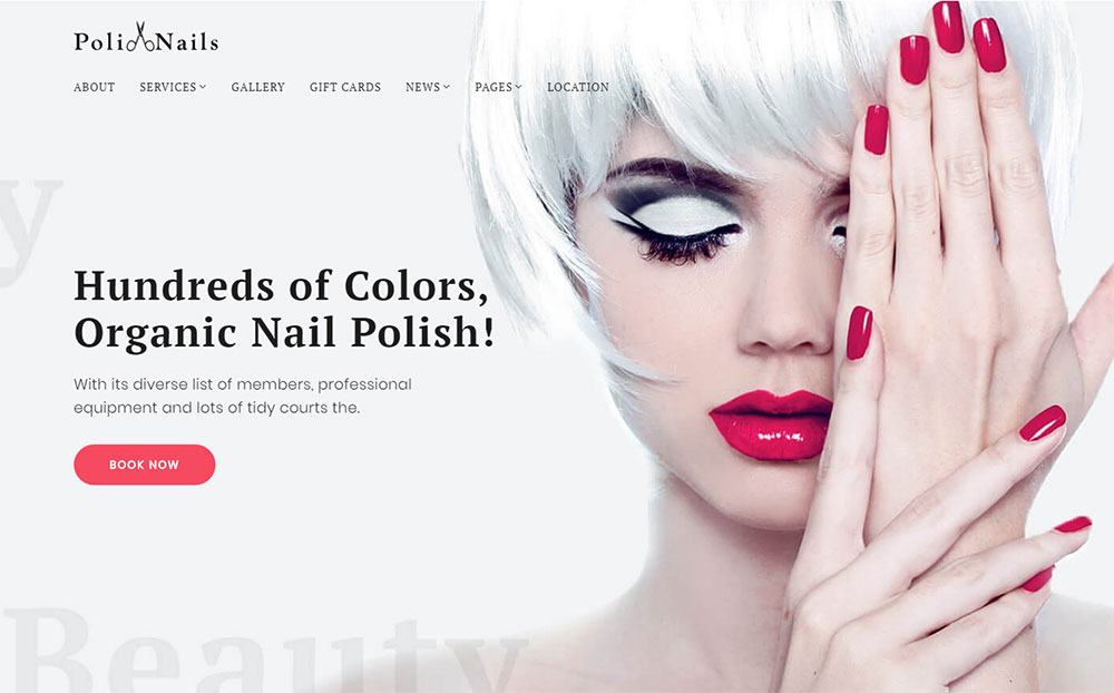Nail Salon WordPress Theme