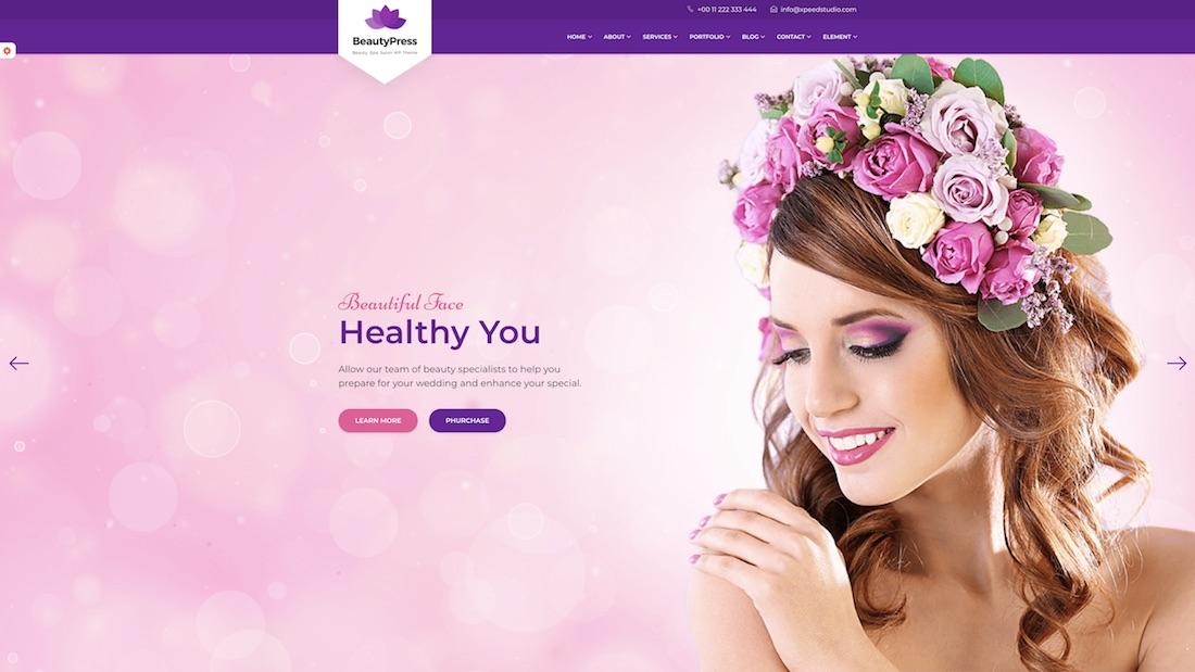 beautypress website template