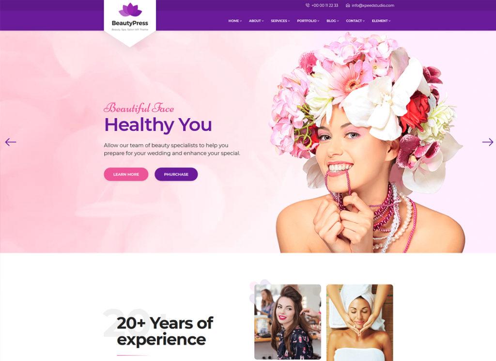 BeautyPress | Beauty Salon Spa WordPress Theme
