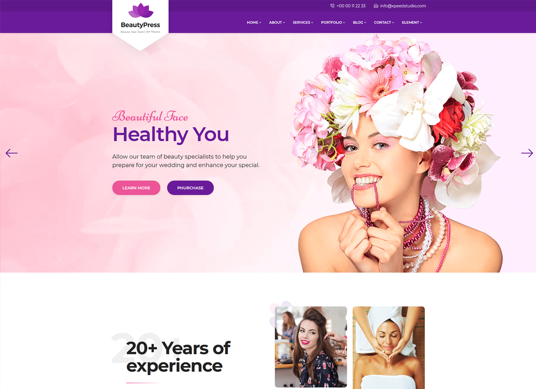 BeautyPress | Beauty Salon Spa WordPress Theme