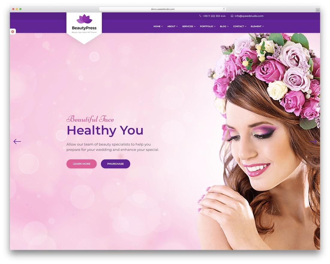 beautypress beautiful website template