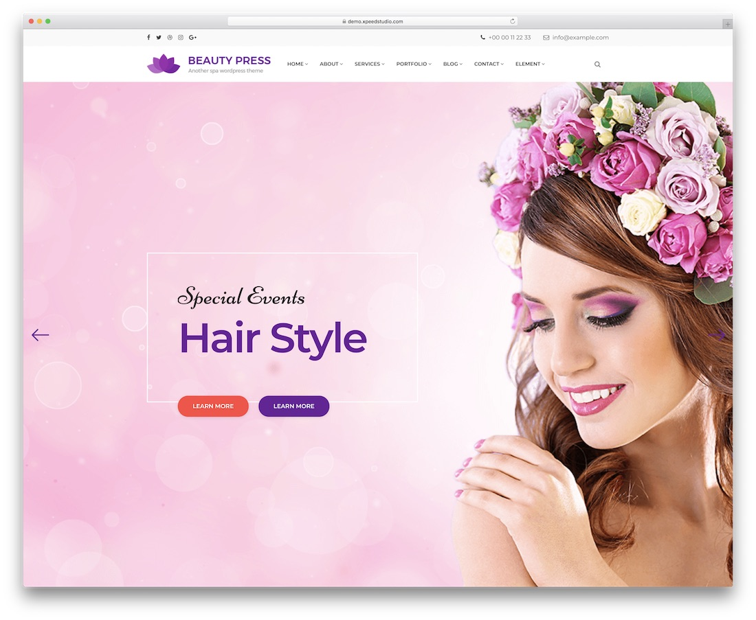 beautypress spa salon wordpress theme