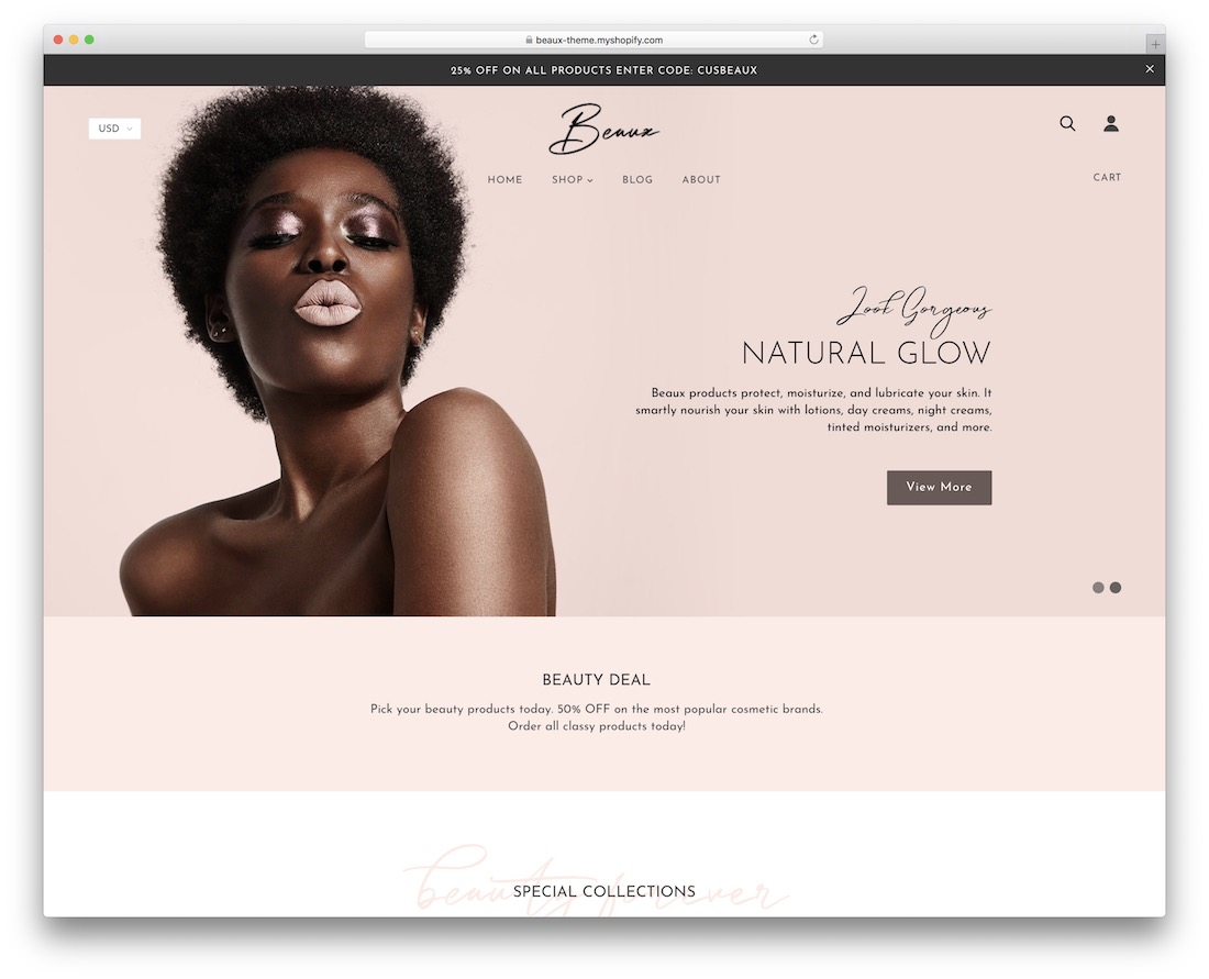 beaux makeup store wordpress theme