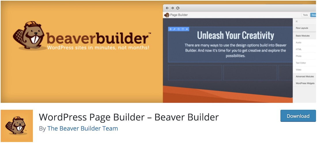 beaver builder lite plugin