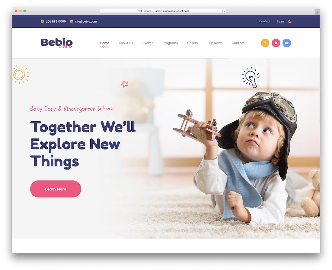 bebio kindergarten wordpress theme