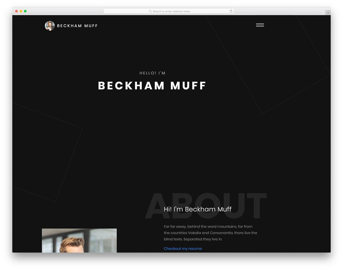 Beckham Free Template