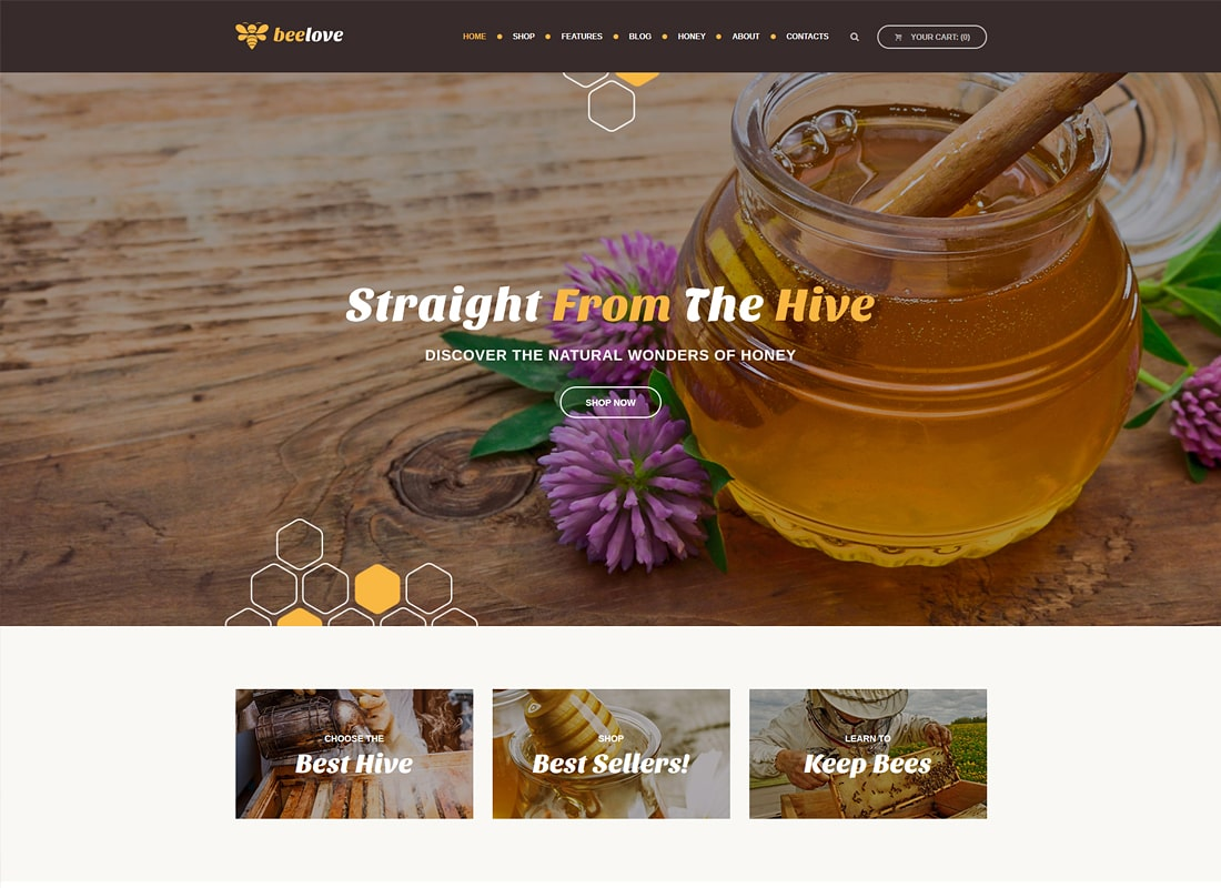 Beelove | Honey Production and Online Store WordPress Theme