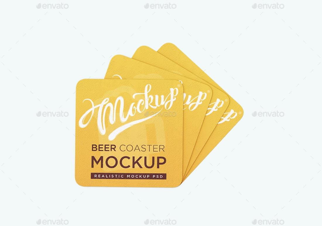 beer coaster mockup