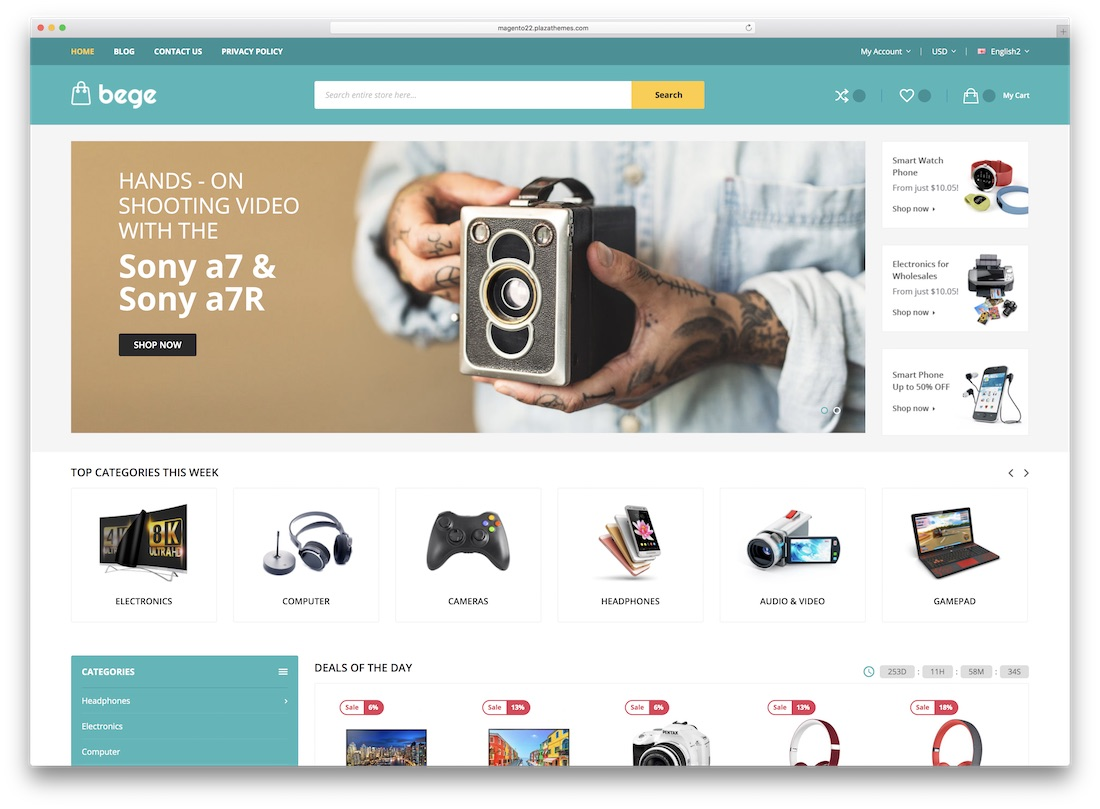 bege magento technology theme