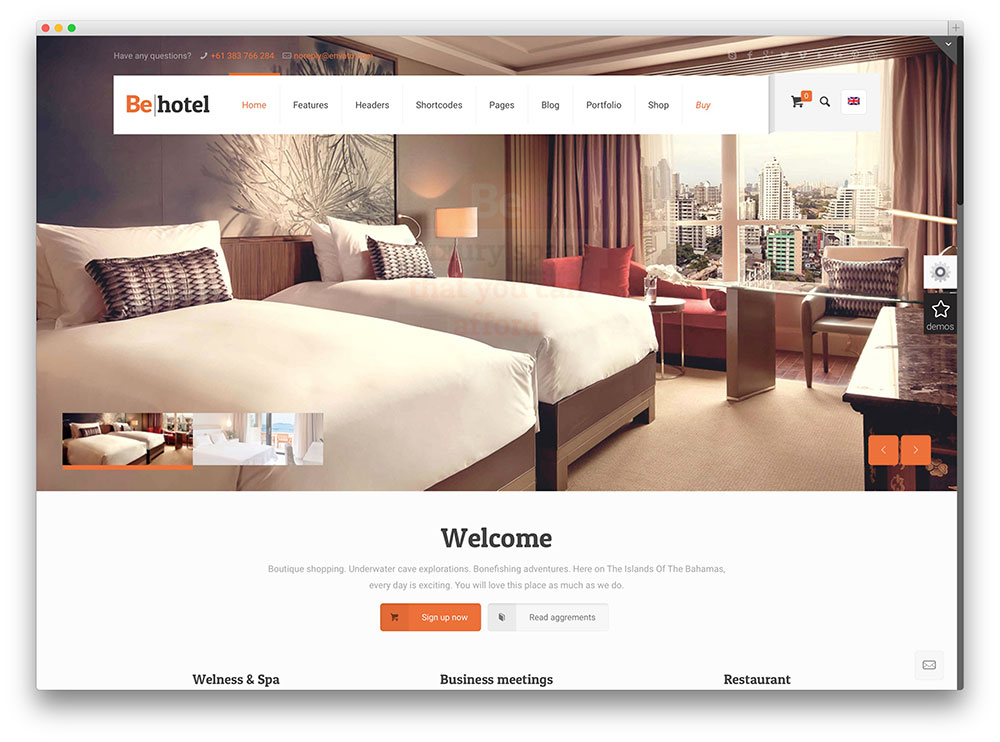 behotel multipurpose theme