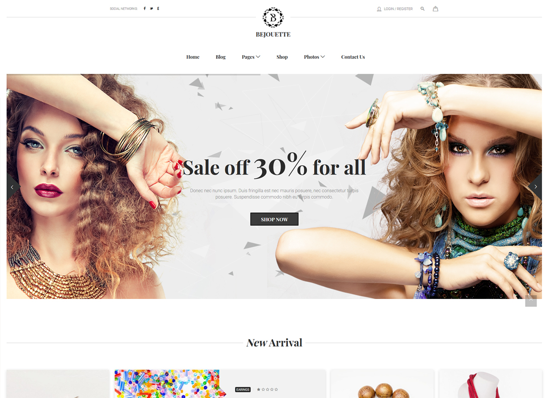 Bejouette | Handmade Jewelry Designer WordPress Theme