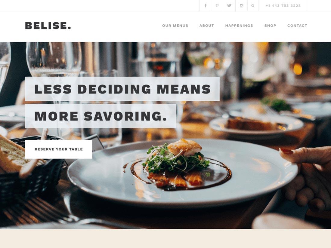minimalist wordpress theme