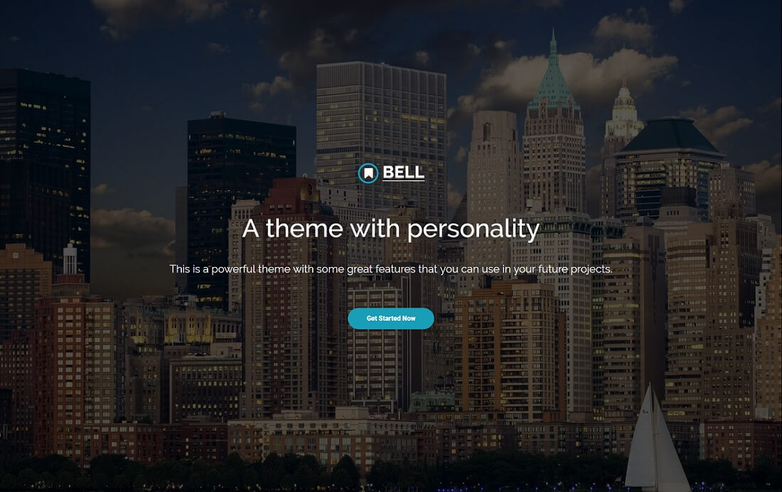 bell free bootstrap 4 website template