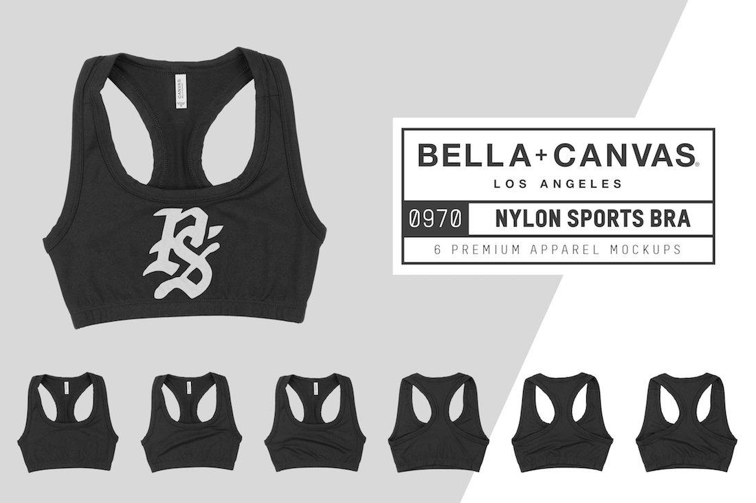 bella canvas 0970 sports bra Mockups