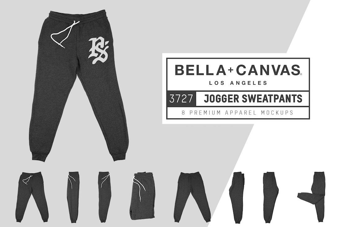 bella canvas 3727 jogger sweatpants