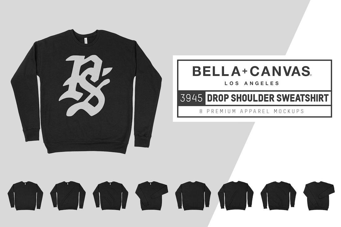 bella canvas 3945 drop shoulder