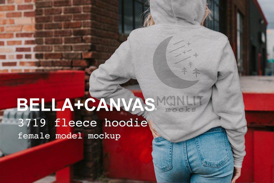 bella canvas hoodie mockup