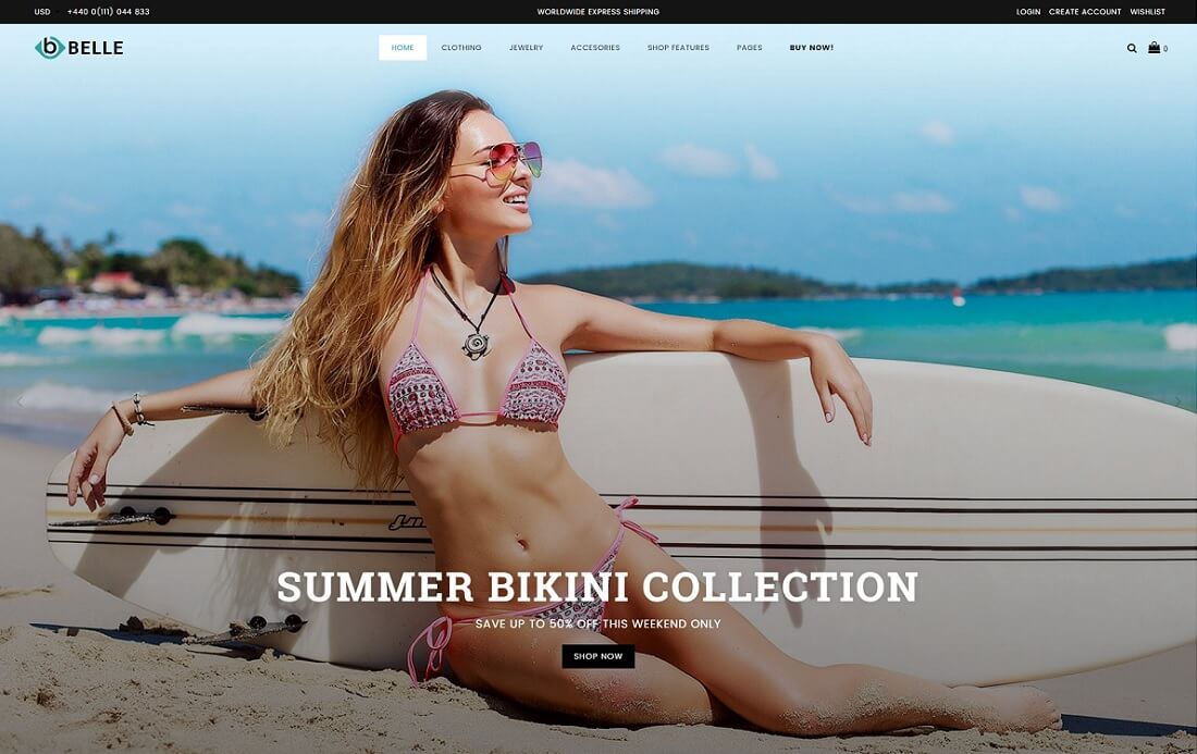 belle fashion shopify theme