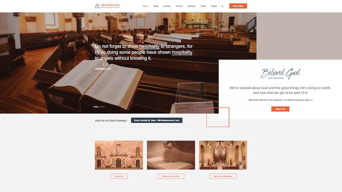 beloved god website template