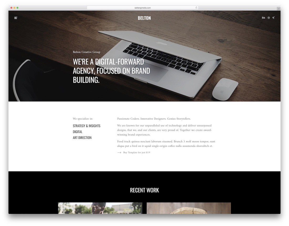 Belton Interior Design Website Template