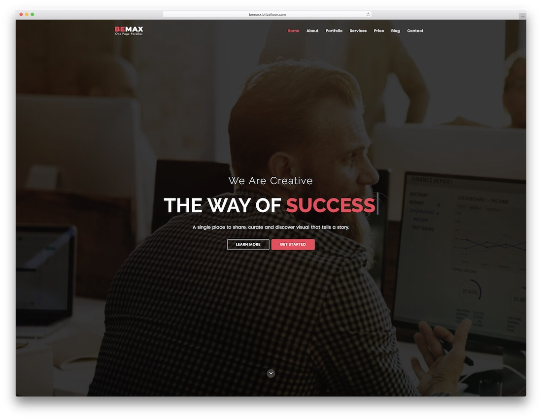 bemax html5 one page website template