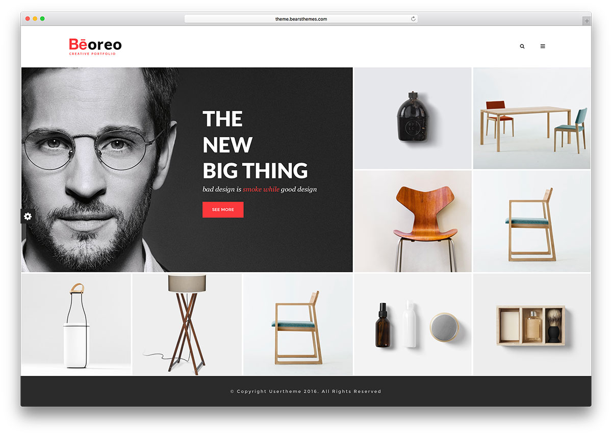 Beoreo Minimal Portfolio Wp Website Template