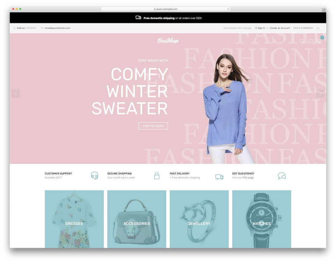 beoshop fashion shopify theme