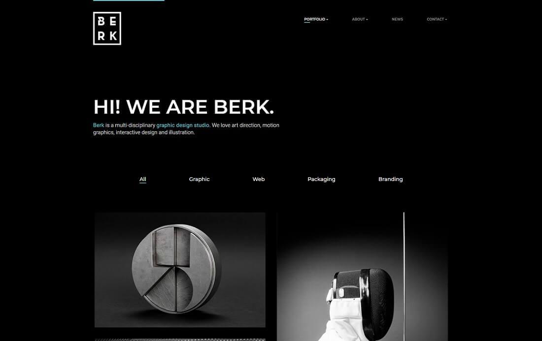 berk artist website template