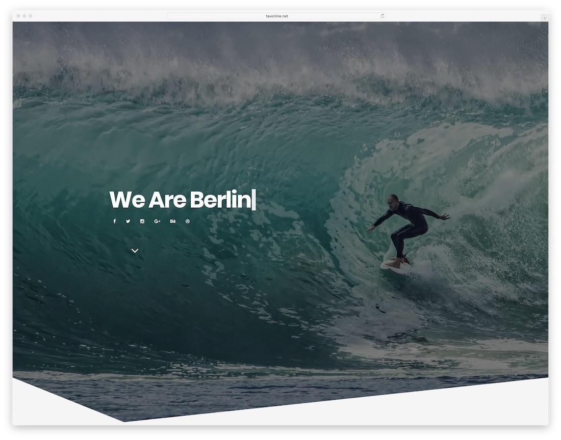 berlin agency portfolio website template