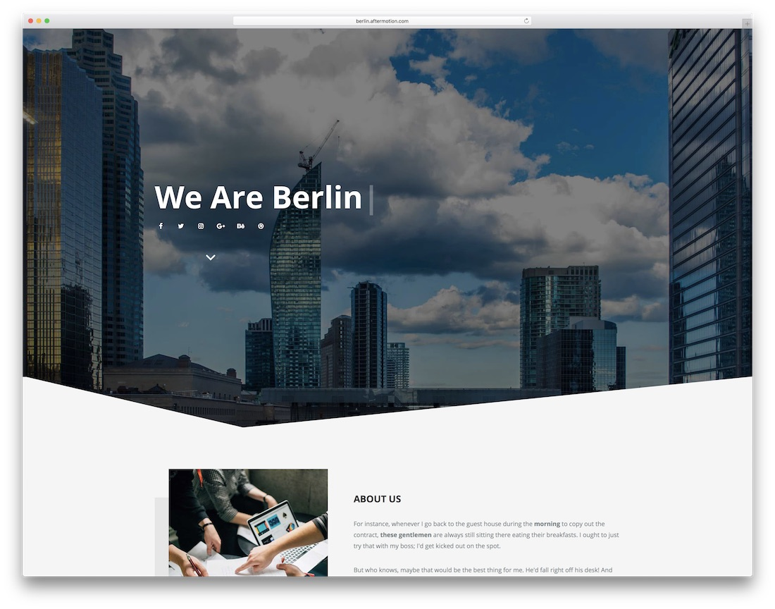 berlin clean adobe muse template