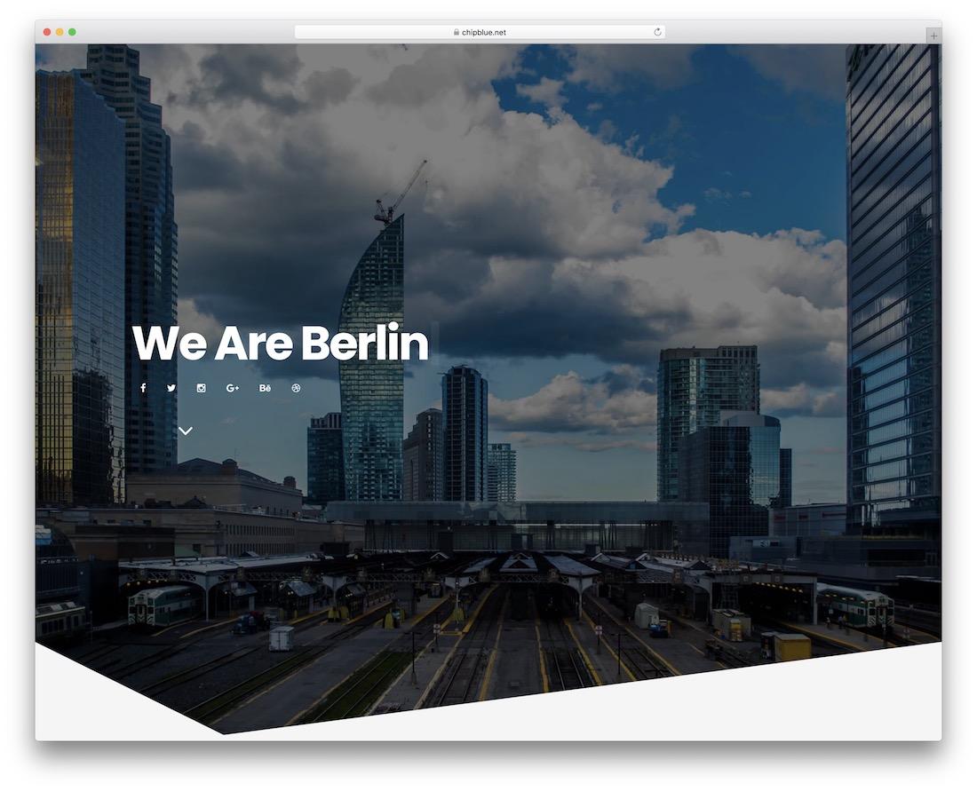 berlin joomla portfolio template