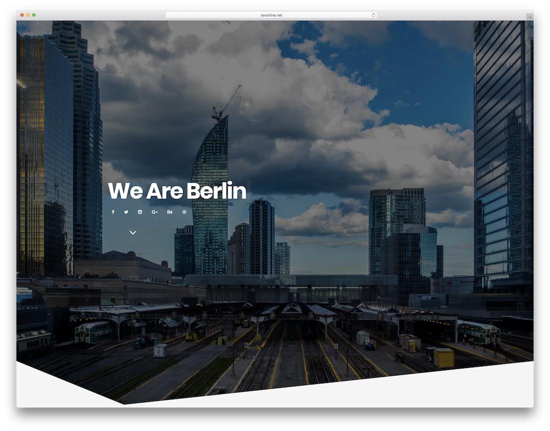 berlin mobile friendly website template