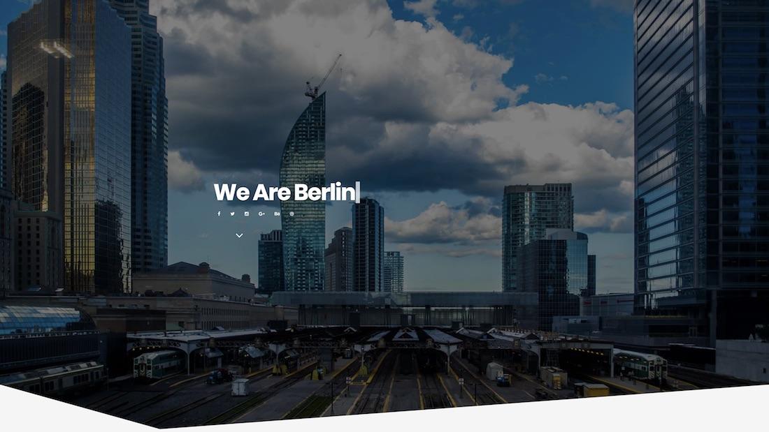 berlin mobile-friendly website template
