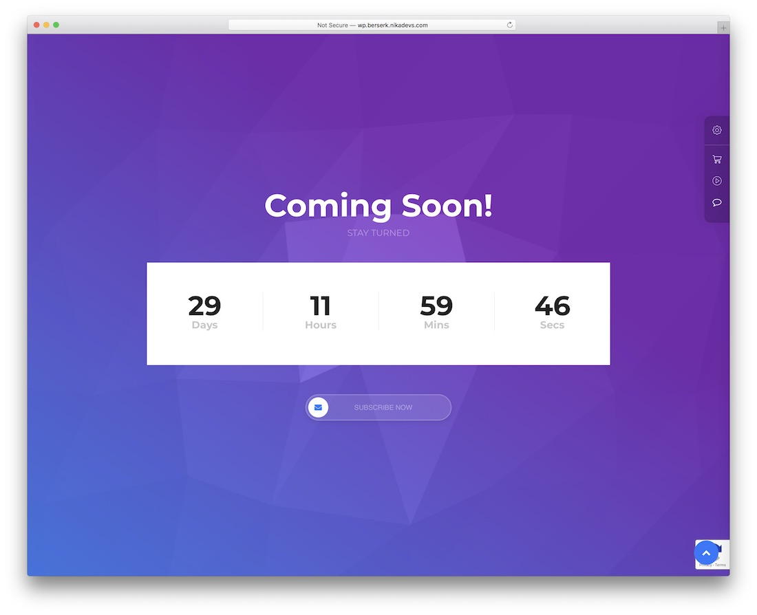 berserk coming soon wordpress theme