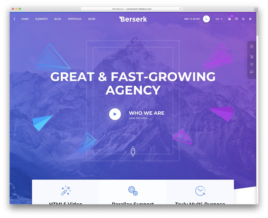 berserk multipurpose website template