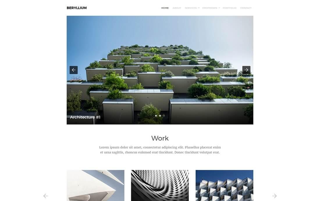 beryllium free HTML website template