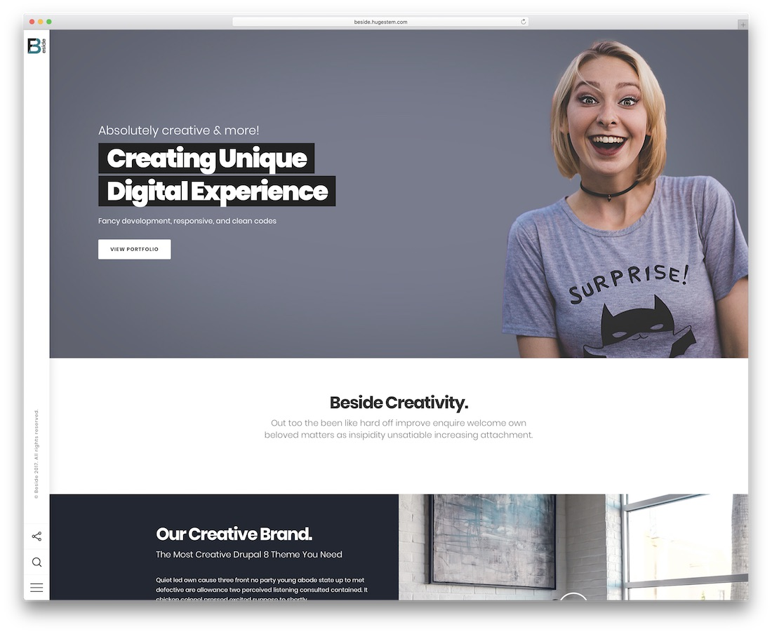 beside drupal business template