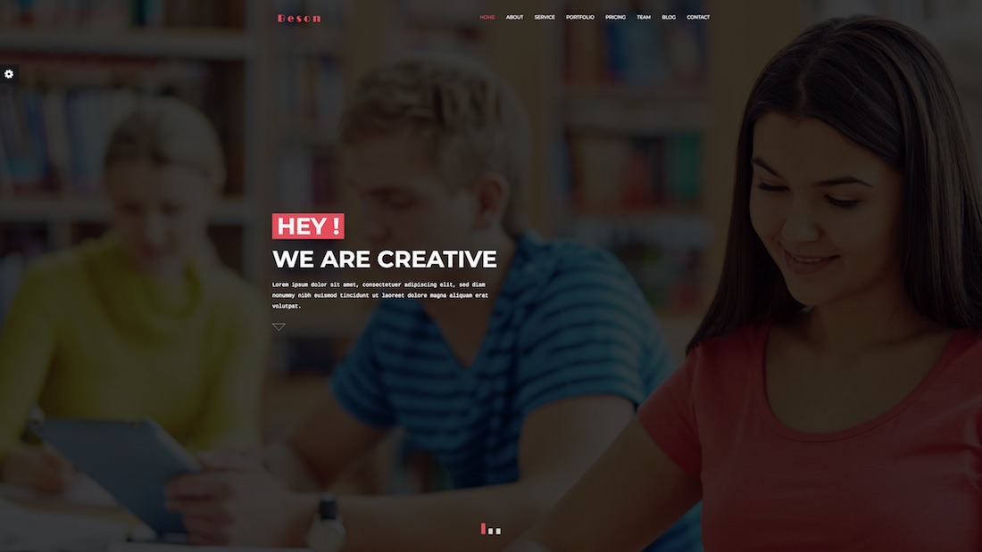 beson graphic design website template