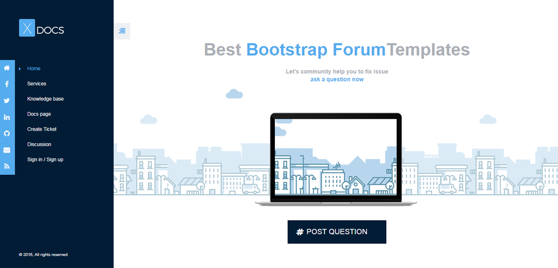 b6bba6b23f0 21 Best Easy To Manage Free And Premium Bootstrap Forum Templates