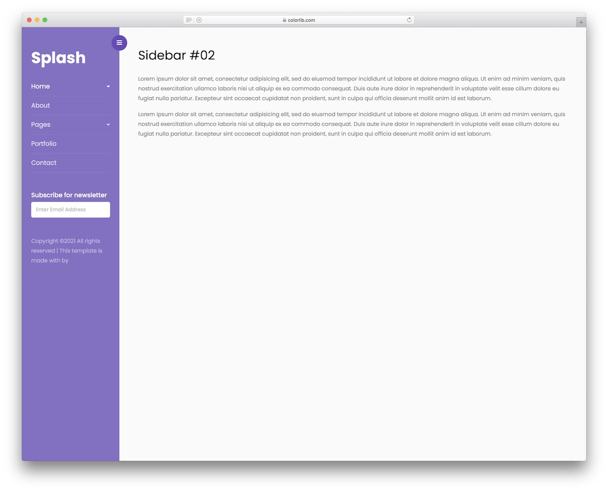 Bootstrap Sidebar