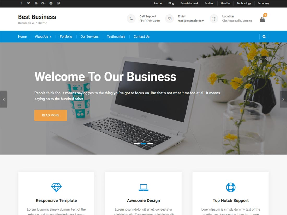 free multipurpose WordPress themes